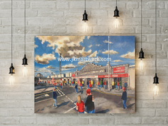 pittodrie  going to the match canvas a2 size